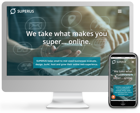 computer showing superus homepage